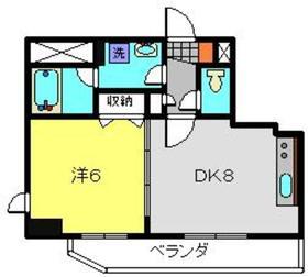 ティーリーフ横浜モデルノ8階Fの間取り画像