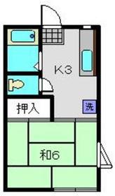 チェリーハイム2階Fの間取り画像
