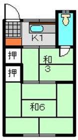 清華荘2階Fの間取り画像