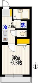 アーバンコートテルミ3階Fの間取り画像