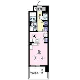 オーベルコート2階Fの間取り画像