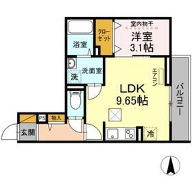 仮)D-room椿森2階Fの間取り画像