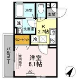 メゾンベール181階Fの間取り画像