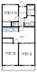 くりいむマンション1階Fの間取り画像