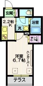 ベルメゾンS1階Fの間取り画像