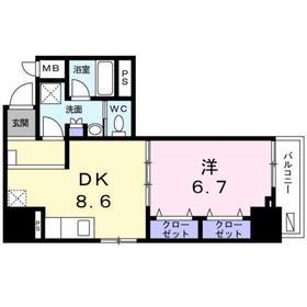 パルティール・アサクサ8階Fの間取り画像