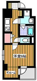 地下鉄成増駅 徒歩1分6階Fの間取り画像