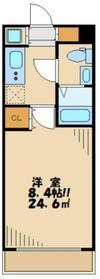 ベルデ聖蹟桜ヶ丘2階Fの間取り画像
