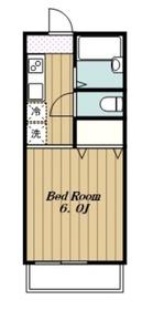 サニーコート2階Fの間取り画像