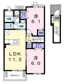 サンフレア2階Fの間取り画像