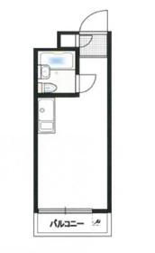 トップルーム千歳船橋2階Fの間取り画像