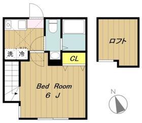 YOU橋本2階Fの間取り画像