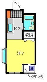 メゾンド・弘明寺1階Fの間取り画像