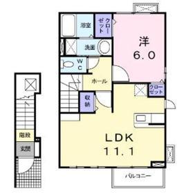 ボナフォルトゥーナ2階Fの間取り画像
