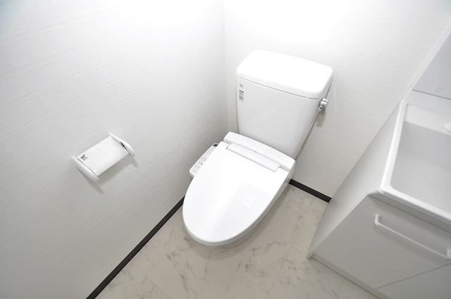 ブライト近大前 清潔感に溢れたトイレは落ちつける、癒しの空間。