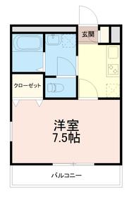 アンプルールブワスギ(Empereur Bois SUGI)2階Fの間取り画像