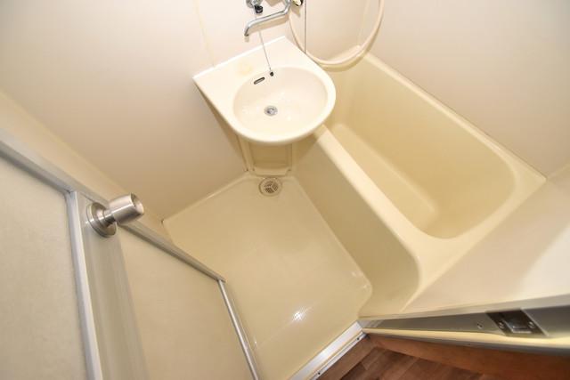シティーコア高井田Ⅱ ちょうどいいサイズのお風呂です。お掃除も楽にできますよ。