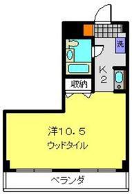 ライオンズマンション大和中央2階Fの間取り画像