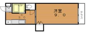 メゾンクレスト2階Fの間取り画像