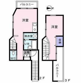 上井草ハウス2階Fの間取り画像