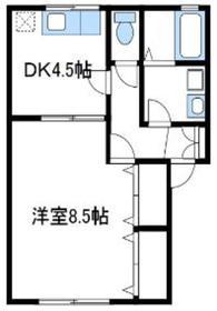 シャルム松風1階Fの間取り画像