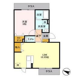 アミティエ駒沢1階Fの間取り画像