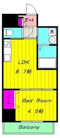 稲田堤駅 徒歩3分3階Fの間取り画像