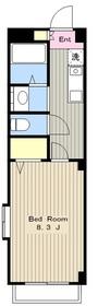 クレセントT2階Fの間取り画像