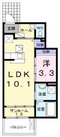ラフィーネ弐番館1階Fの間取り画像