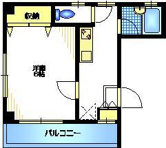 クレールN3階Fの間取り画像