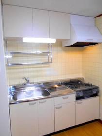 2口ガスコンロ設置済みのキッチン