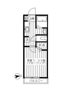 セブンハイム3階Fの間取り画像