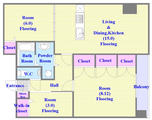 ひとつひとつのお部屋が、ゆとりのある間取りになってます。