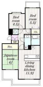 希望ヶ丘駅 徒歩28分4階Fの間取り画像