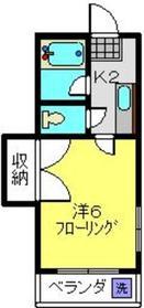 ビバリー日吉1階Fの間取り画像