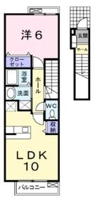 アイフラット1階Fの間取り画像
