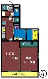 ドルチェ・アンナC1階Fの間取り画像