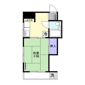 大平ビル3階Fの間取り画像