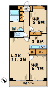 ソレアード2階Fの間取り画像