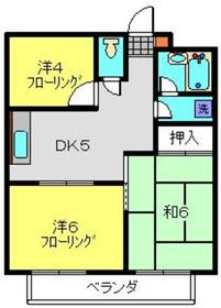 シャンス東寺尾中台51階Fの間取り画像