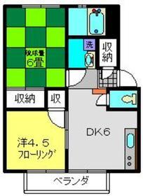 エステート日吉1階Fの間取り画像