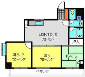 アパルトマン・トロワバレー・サントル5階Fの間取り画像
