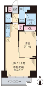 S.S.キューベライズ4階Fの間取り画像