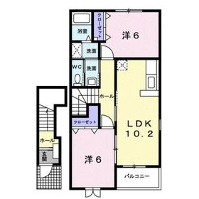 ラフィネメゾンA2階Fの間取り画像
