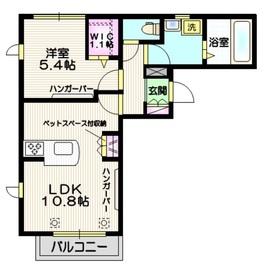 サザンクロス 2階Fの間取り画像