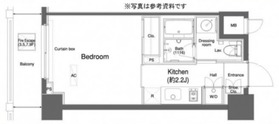 プラウドフラット横浜3階Fの間取り画像