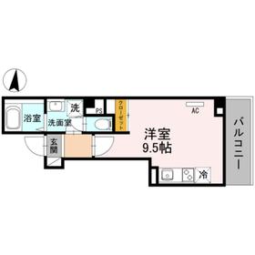 ESBERANSA5階Fの間取り画像