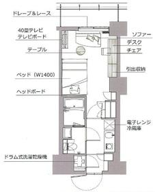レックスガーデン神楽坂北町3階Fの間取り画像