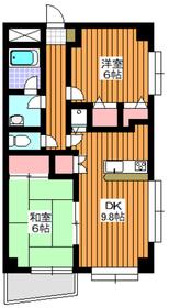 地下鉄赤塚駅 徒歩16分1階Fの間取り画像