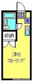 和田町駅 徒歩3分1階Fの間取り画像